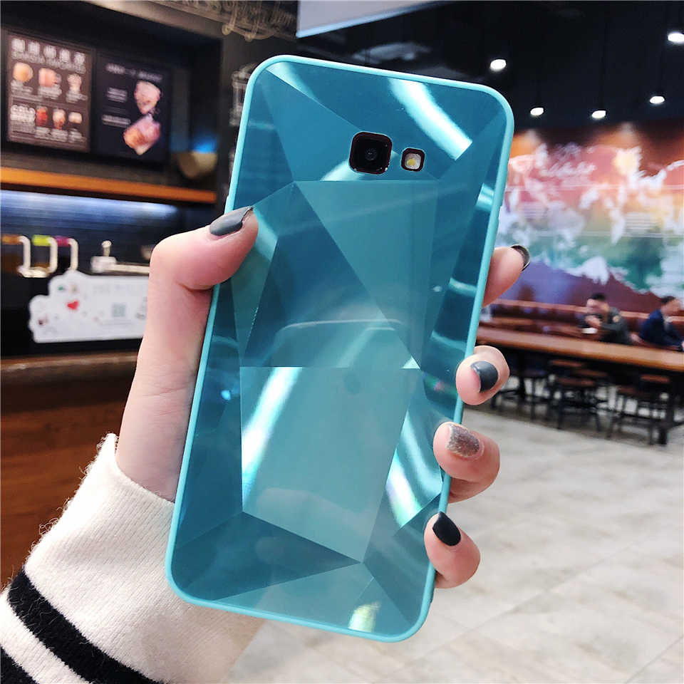 3D Bling Glitter TPU + PC Case for Samsung Galaxy J4 J6 Plus A6 A7 A8 A9 2018 J3 J5 J7 2016 2017 Cover Hard Diamond Phone Cases