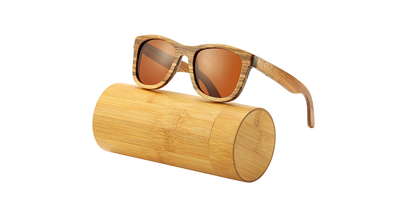 AN SWALLOW New 100% Real Zebra Wood Sunglasses Polarized Handmade Bamboo Mens Sunglass Sun glasses Men Gafas Oculos De Sol Mader 12