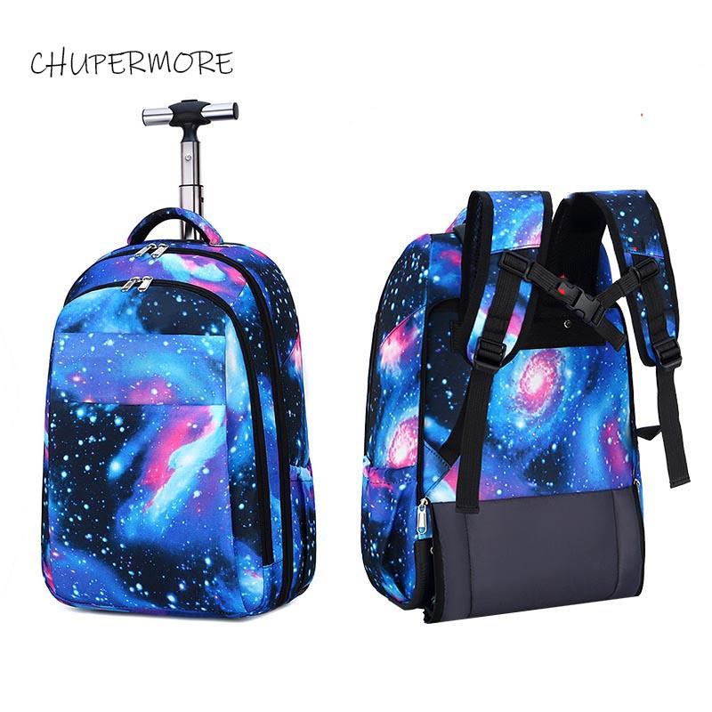 Fashion Multifunction Shoulder Travel Bags Waterproof Rolling Luggage Men Business Suitcase Wheels 18 inch Women Cabin