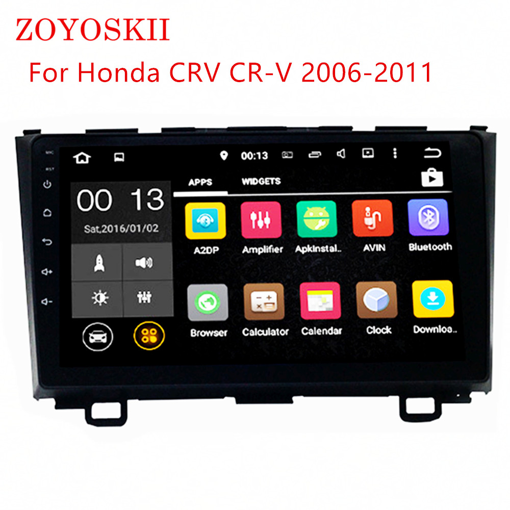 ZOYOSKII Android 9 zoll auto gps multimedia <font><b>radio</b></font> bluetooth navigation-player für Honda <font><b>CRV</b></font> 2006-2011 image