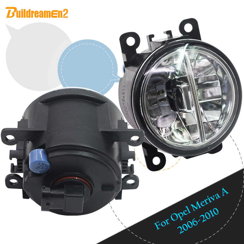 Buildreamen2 For Opel Meriva A 2006 2007 2008 2009 2010 Car Styling 4000LM Front LED Lamp Fog Light Daytime Running Lamp DRL 12V