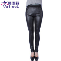 2016 High Quality Women Legging Autumn Winter Plus Velvet Thicken Imitation Leather Leggings Plus Size Femal