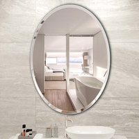 Bathroom oval makeup mirror paste free punching toilet wall hanging mirror wall mounted dressing mirror wx8241135