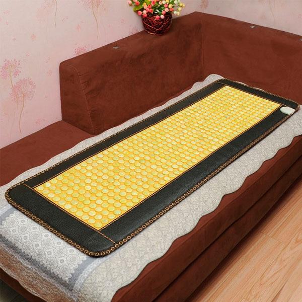 2016 Best Selling Korea Health Jade Mattress Yellow color stone Heating Pad Medical Mattress Free Shipping&Drop Shipping 2016 korea heating jade mattress heating cushion physical therapy jade stone mattress 50cm 150cm free shipping