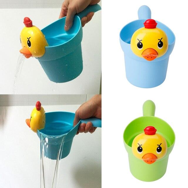 1pc Baby Children Bath Cartoon Chicken Cup Toys Tools Beach Shower ...