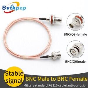 Image 1 - Bnc (q9) 무선 마이크 케이블 bnc 남성 여성 확장 rf 동축 케이블 (범용 마이크 안테나 용)