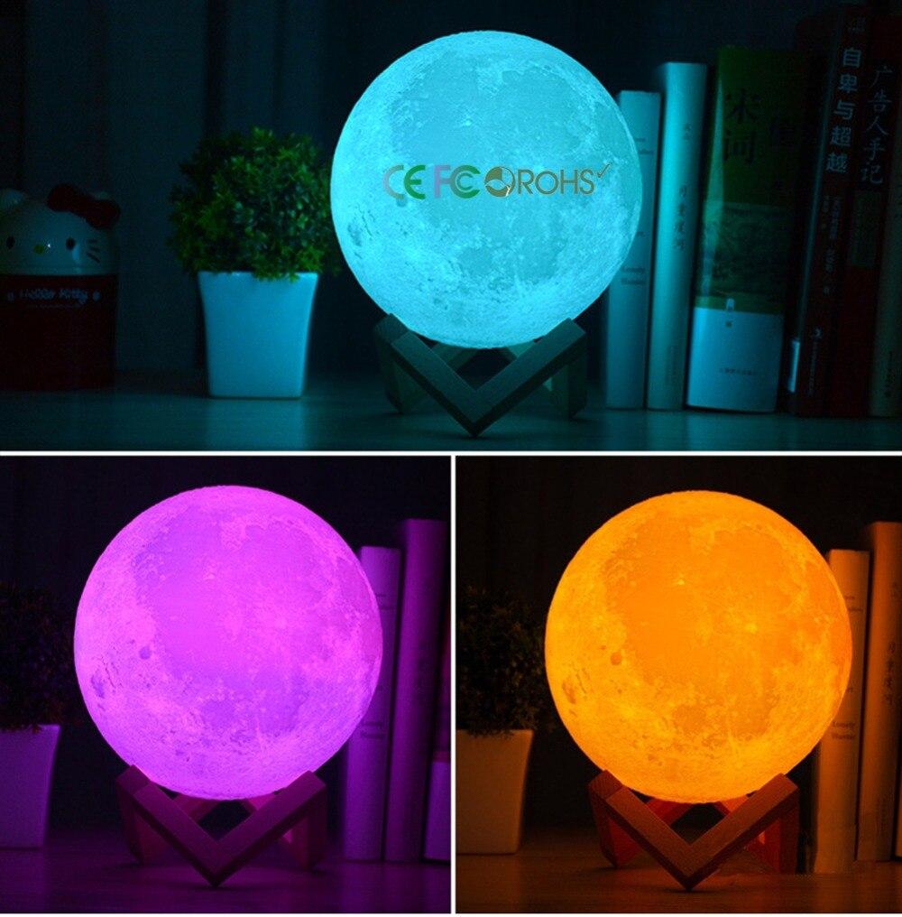 Умная лампа Moonlight, голосовое дистанционное управление Wifi Moonlight умная светодиодная RGBW лампа, умная светодиодная Alexa Echo Google Home Tuya Smart IFTTT - 3