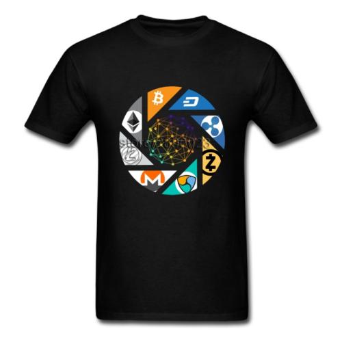 Cryptocurrency Bitcoin Litecoin Dash Zcash Ethereum Monero Homme T-Shirt Cloth