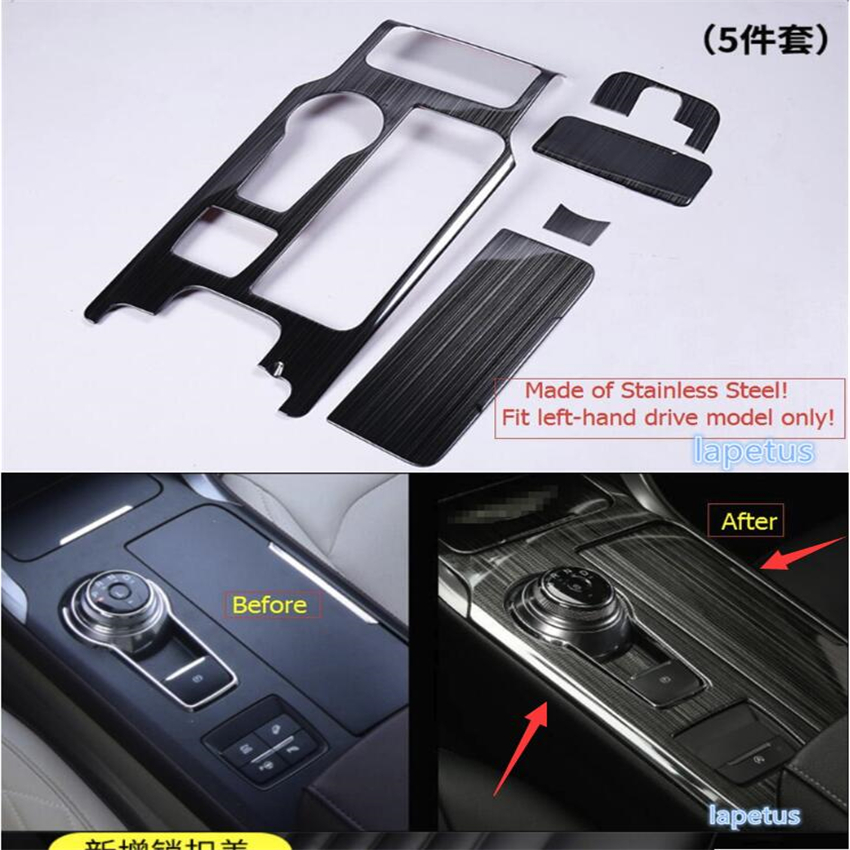Lapetus Stalls Gear Shift Box Frame Cover Decoration Trim 5 Piece / Set For Ford Mondeo / Fusion 2013 2014 2015 2016 for ford fusion mondeo 2013 2014 2015 control glass water panel protective film stickers carbon cover