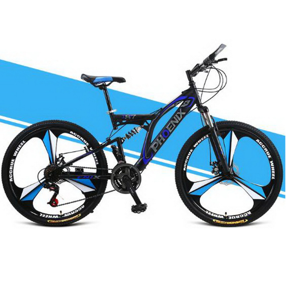 161004-1/Bicycle mountain bike /Male 24/26 inch disc brake double shock road speed bike / student bike/Fish scale welding стоимость