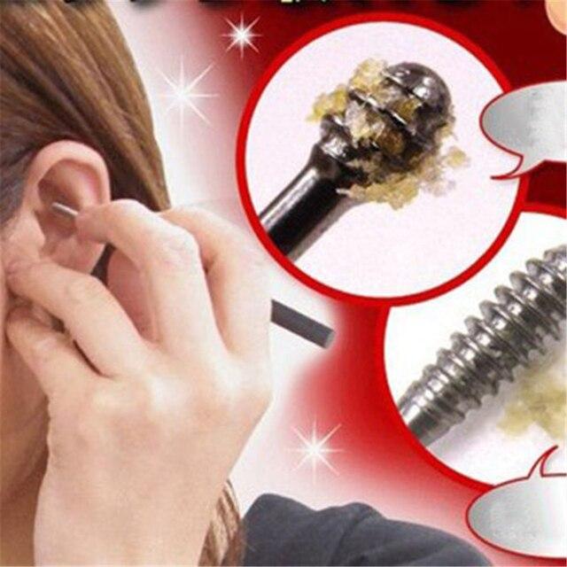 Yeni 1 ADET Kulak Balmumu Toplayıcı Paslanmaz Çelik Kulak Seçtikleri Balmumu Çıkarma Curette Remover Temizleyici Kulak Bakım Aracı EarPick Yüz güzellik Araçları