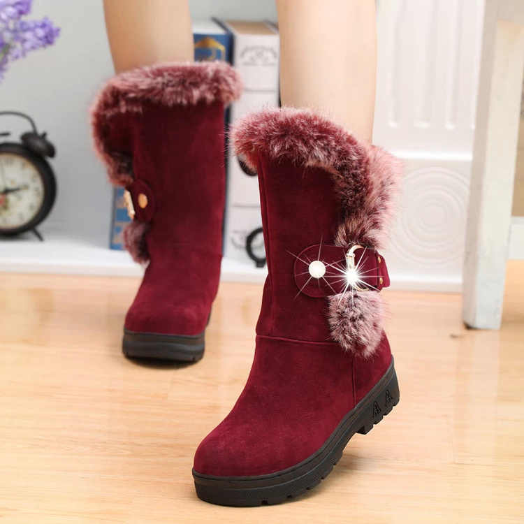 2017 HYLXJ HOT Children Sneakers 2016 New Girl Children Snow Boots Thicken Winter Children Shoes For Girls Kids Insole 22.5~25cm