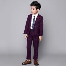 Invierno nueva moda alta calidad niño traje pana Niño ropa Slim boda trajes  para niños rojo a99494f8d4f