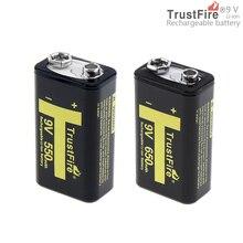 ФОТО 2pcs/set soshine 9v 6f22 650mah li-ion rechargeable battery + 9v smart charger with led indicator