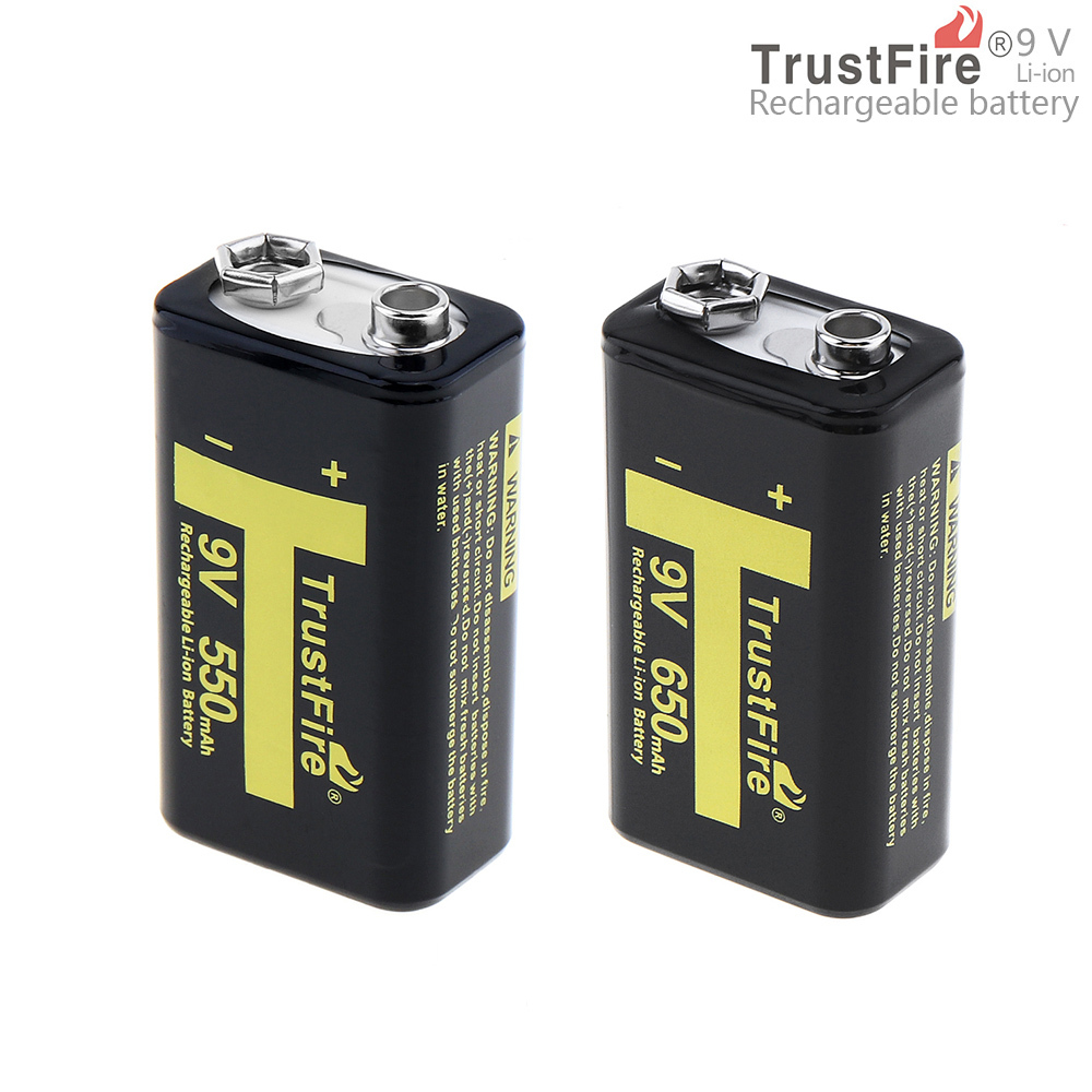 TrustFire 9V 6F22 550mAh/650mAh Rechargeable Battery for Multimeter / Wireless Microphone 3 in 1 lcd digital multimeter green 9v 1 x 6f22