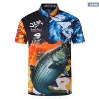 2018 NEW Fishing Short sleeve outdoors clothes Sunscreen summer Breathable Leisure Anti UV Anti mosquito Quick dry Free shipping
