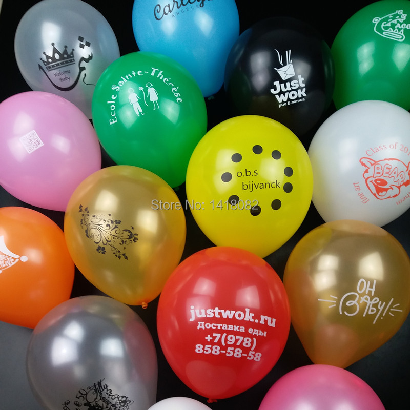 500pcs Advertising balloon printing custom Customizable pearl and matte thick 2 2 g 10 wedding circular