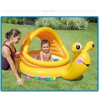 Amusing Kids Summer Water Pool Children Outdoors Swimming Pool Safe Soft Cushion Portable Water Basin with Sunshade For Children