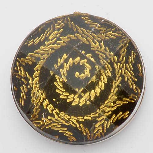Botones a presión de 18mm, broches de cristal facetados negros amarillos para pulseras de broches de encaje de jengibre joyería NC1419