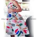 2016 Bobo Choses Spring Summer Kids Dresses Baby Girls Multi Pattern Dress Vestidos Clothing