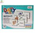 Family Fun Соответствия Письмо Игры Игрушки Дошкольник Головоломки Бумажные Карты Доски Детей Матч Игра Для Детей