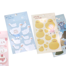 1sheet/lot Cartoon Paper Sticker Children Series Kawaii Cute Stickers DIY Dairy Notebook Decoration Gift For Girl Scrapbooking