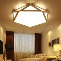 Modern led ceiling Chandelier lights for living room bedroom Black or White Dec AC85-265V Ceiling Chandelier Fixtures
