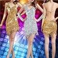 Латинский Танец Dress Специальное Предложение Латинский Танец Dress Женщины Латинский Танец Костюм Латинской Сальса Платья Fringe Dress