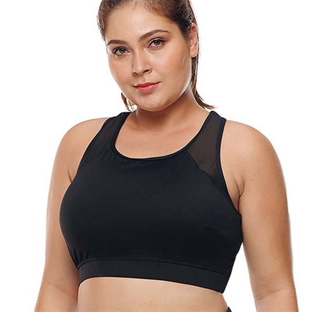 7f54a50cf4568 L-3XL Women Plus Size Sports Bra High Impact Fitness Yoga Running  SportsWear Push Up
