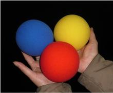 6pcs/lot Super Sponge Ball (10cm) 3 Color For Choose,Red/Blue/Yellow,Stage Magic Trcik,Mentalism,Close Up Magie Prop,Magia Toys(China)