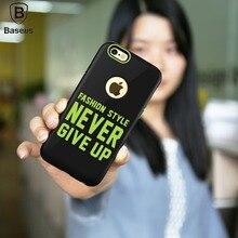 Baseus Мода Стиль ТПУ + PC Защитный Чехол для iPhone 6 6 s Назад Shell Охватывает Случай Мобильного Телефона со Словами для iPhone 6 плюс