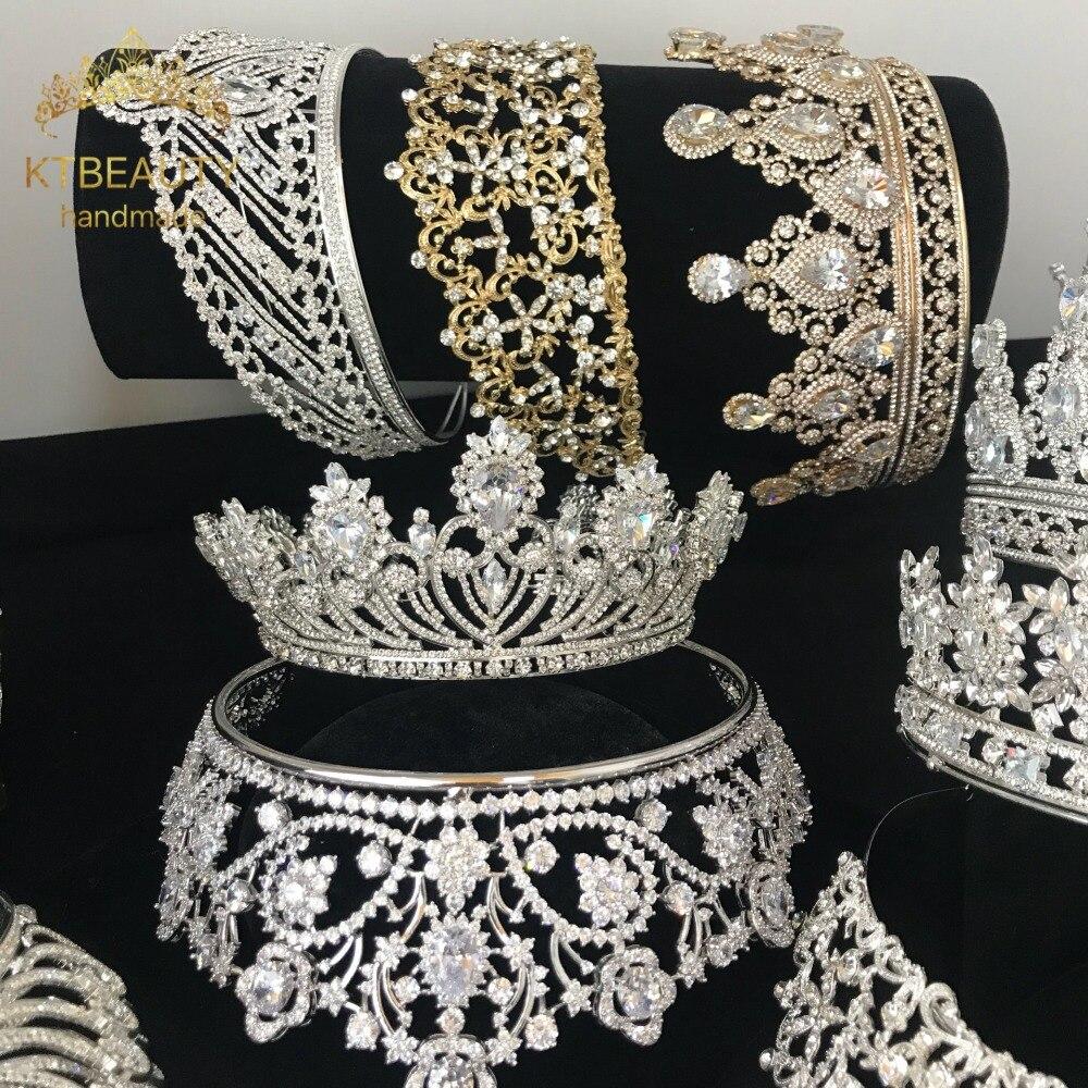20 piedras de circonio preciosas de diseño corona grande Tiara de novia diadema de pelo real accesorios de la corona de la boda joyería de las mujeres-in Joyería para el cabello from Joyería y accesorios on Aliexpress.com | Alibaba Group
