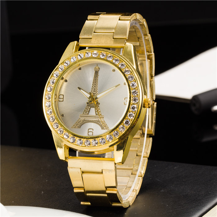 New Ybotti Fashion Brand Gold Crystal Casual Quartz Watch Women Stainless Steel Watches Relogio Feminino Ladies Clock Hot Sale new luxury brand dqg crystal rosy gold casual quartz watch women stainless steel dress watches relogio feminino clock hot sale