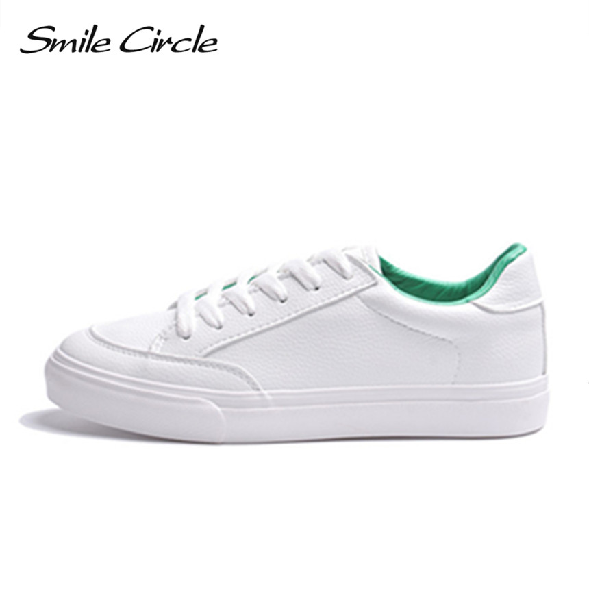 Smile Circle 2018 Spring White Sneakers For Womens