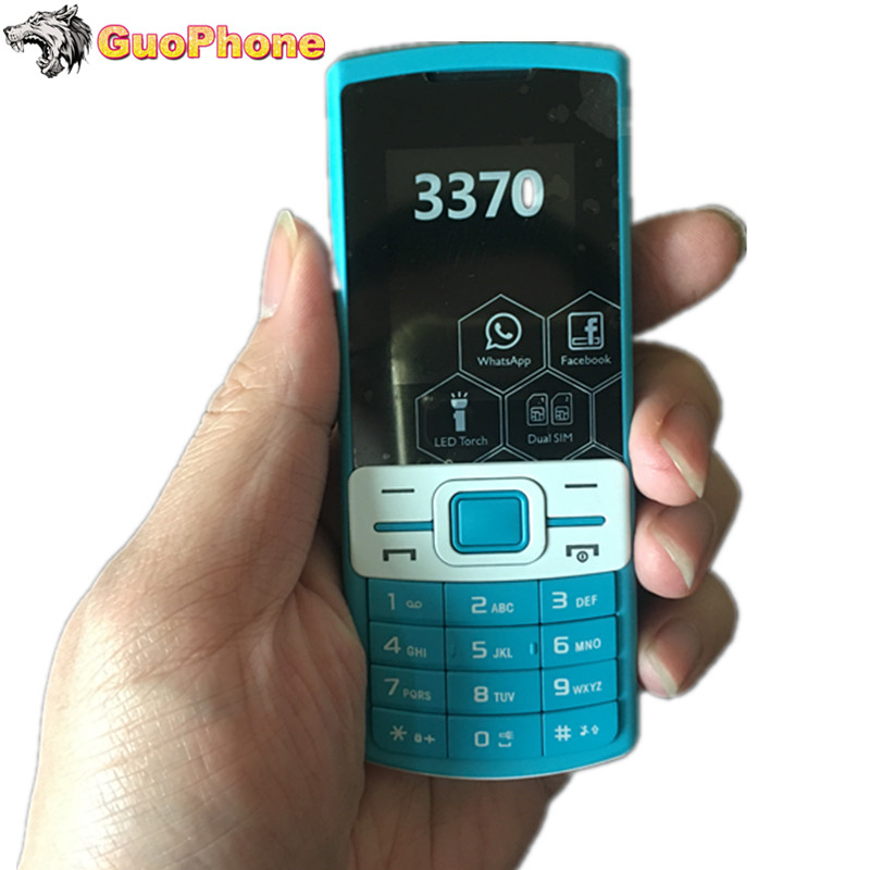 """2018 New Low Price Mobile 1.8"""" Dual SIM Cards FM MP3 Camera FM Flashlight Cheap Feature Phone(Can Add Russian Keyboard) GP003"""