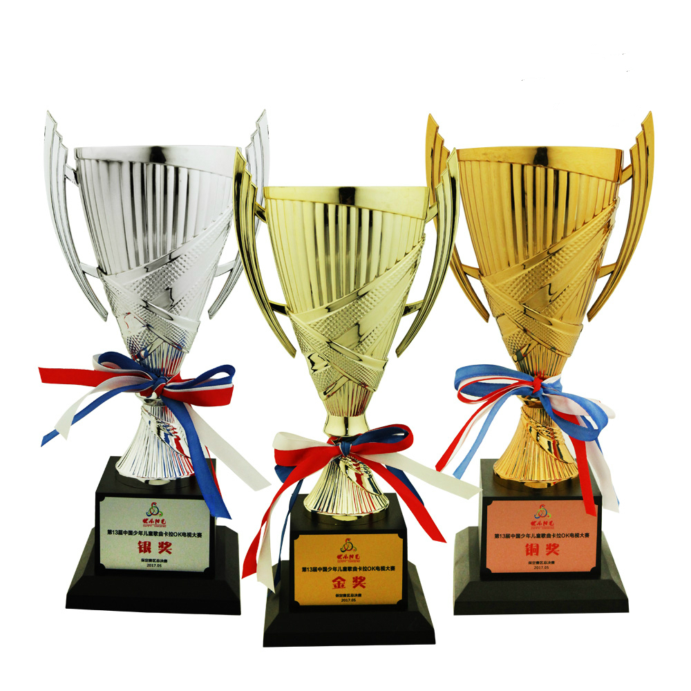 Brand New 3 Colors Campus Sports Trophies Children's Competition Plastic Trophy Teenagers Sports Meeting Award Prize Winner Gift