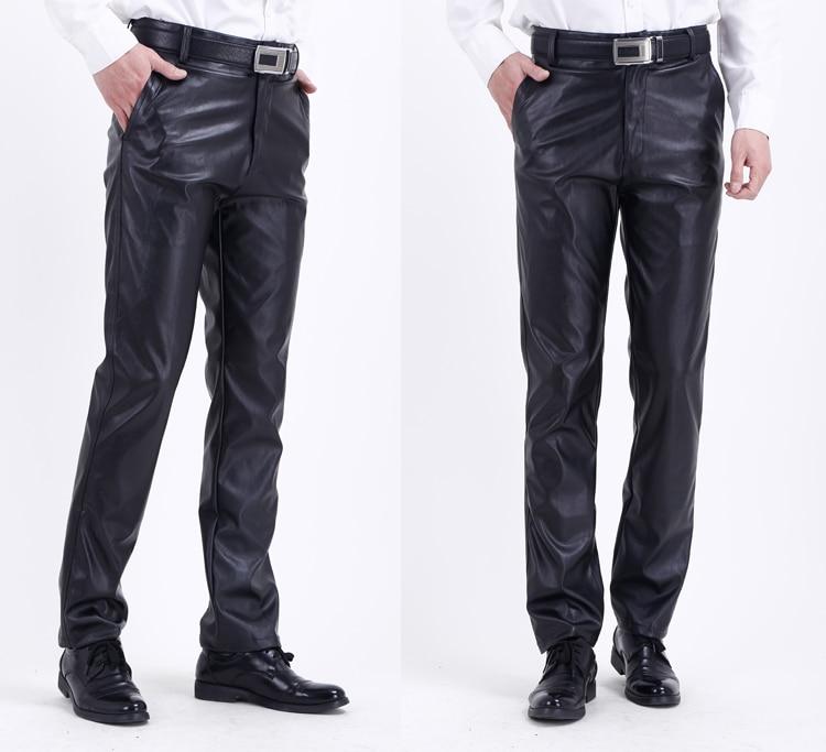 HTB1FKCoIbPpK1RjSZFFq6y5PpXaR Thoshine Brand Summer Men Leather Pants Elastic High Waist Lightweight Casual PU Leather Trousers Thin Motor Pants Plus Size
