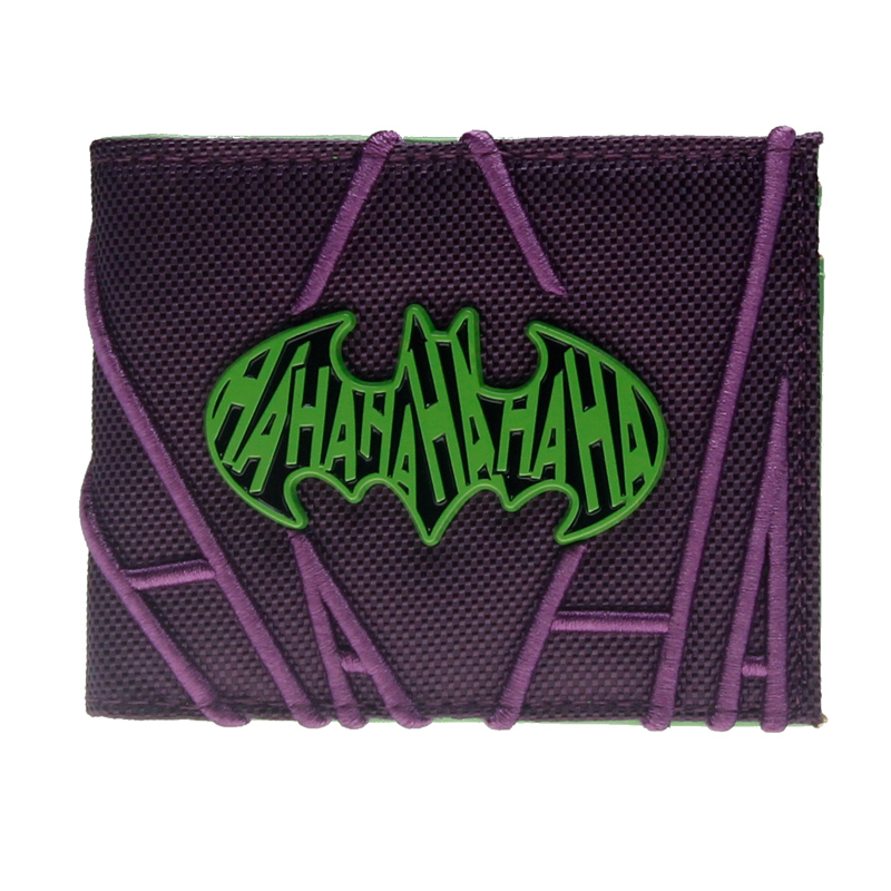 Purple Embroidered HAHAHA Joker Bifold Men Wallet Women Purse  DFT-3063