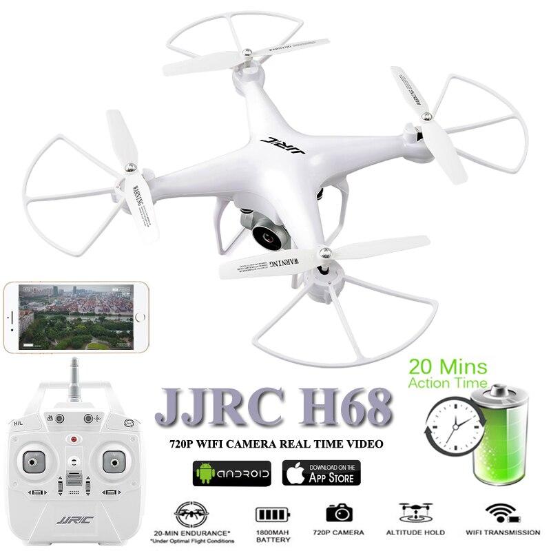 JJRC H68 Дроны с Камера Drone 20 Minustes время полета Дрон 2,4 г Quadcopter Wi-Fi fpv-квадрокоптер вертолет Brinquedo игрушка