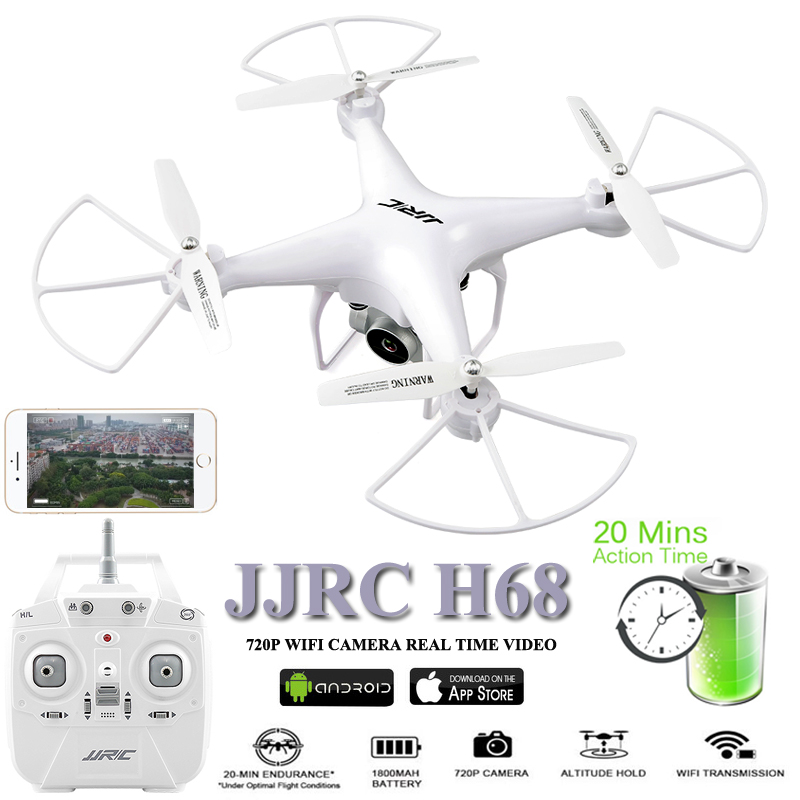 JJRC H68 Drones with Camera Drone 20 Minustes Flying Time Dron 2.4G Quadcopter WiFi FPV Quadrocopter RC Helicopter Brinquedo ToyJJRC H68 Drones with Camera Drone 20 Minustes Flying Time Dron 2.4G Quadcopter WiFi FPV Quadrocopter RC Helicopter Brinquedo Toy