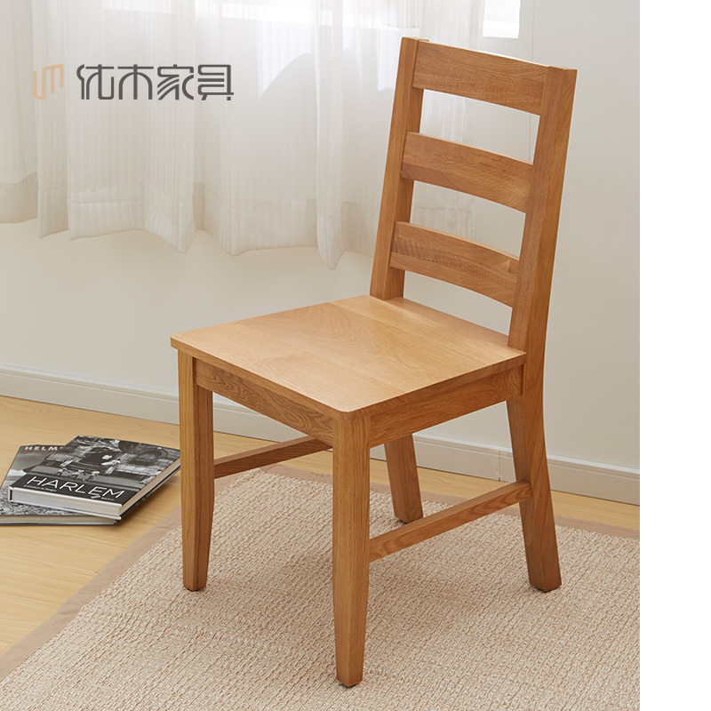 Pura madera maciza sillas de madera de roble importada mesa de
