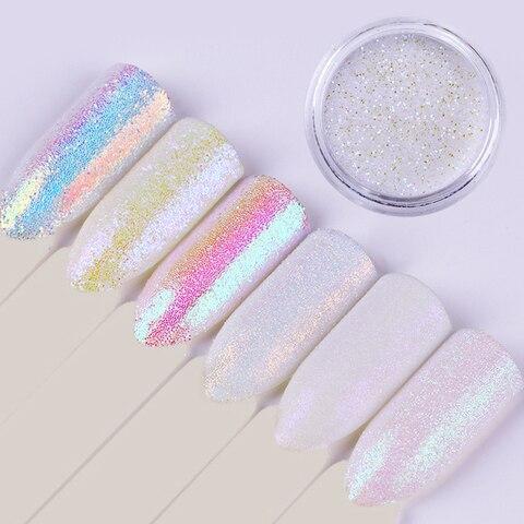 6 Boxes Nail Glitter Set AB Color Sequins Flakes Nail Art Decoration Paillette Manicure DIY Powder Karachi