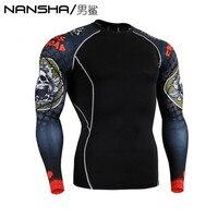 Advanced 3D Male Print Compression Shirt Slim Fit Skins Tight Long Sleeve Men S Bodybuilding Crossfit