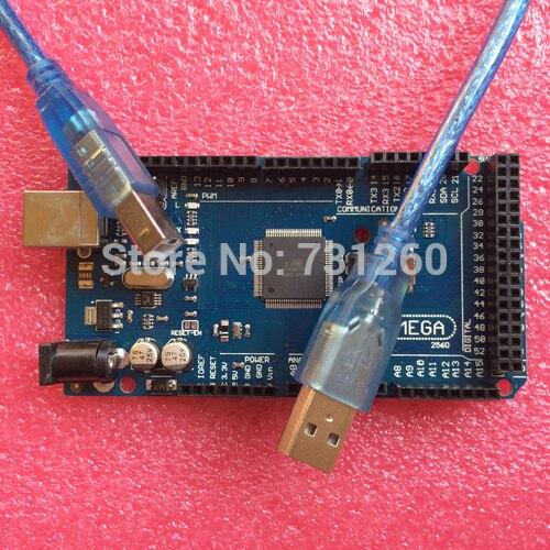 Mega2560 R3 ATmega2560-16AU 16U2-MU(50pcs Board +50pcs USB Cable)  mega 2560 for Arduino