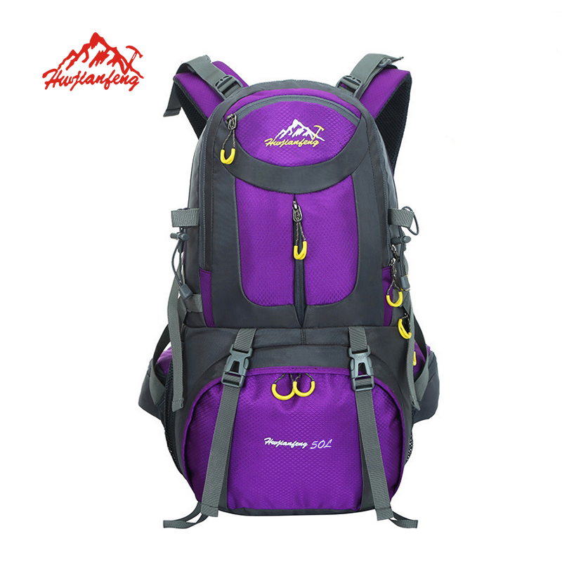 HUWAIJIANFENG sac à dos extérieur sac de sport 50L sac à dos de voyage randonnée sac de cyclisme escalade sac à dos étanche