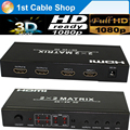 HDMI Matrix 4X2/2X2/4X4 Switches&splitts among 2/4/4 hdmi inputs with remote control full HD1080P supported