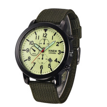 Mens Military Quartz Army Watch Black Dial Date Luxury Sport Wrist Watch #4636 Brand New High Quality Luxury Free Shipping