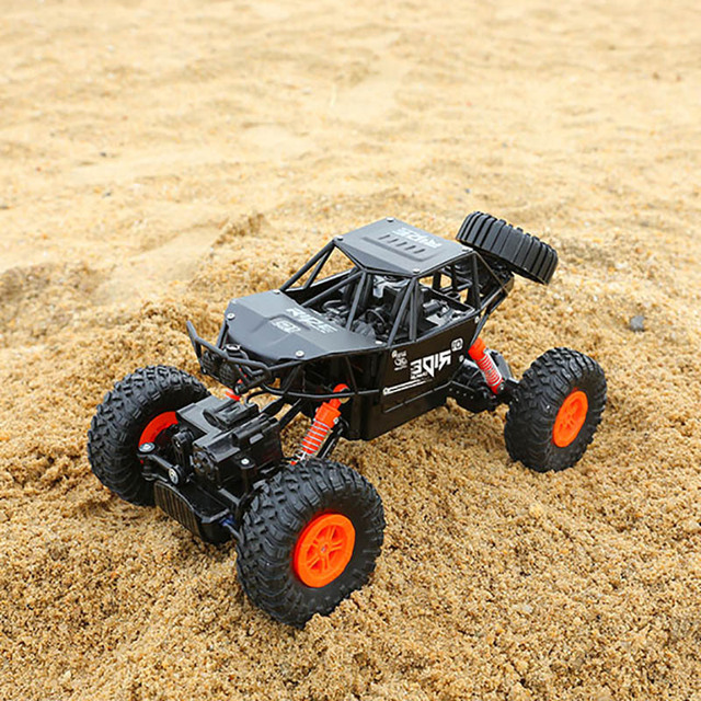alloy 2.4G rc car 1/16 10km/h Off-Road Drive Bigfoot cars electric four-wheel climbing Double Motors Vehicle toys car for gift 5