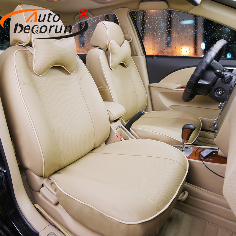 AutoDecorun covers seat for Lotus L5 accessories interior car seat covers PU Leather cushion cover for car seats & headpillows