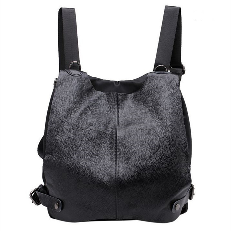 Casual Multifunctional Fashion Women Genuine Leather Oxford Backpack Preppy Style School Bags Casual Travel Bag For Women Girls nawo fashion genuine leather backpack rivet women bags preppy style backpack girls school bags zipper large women s backpack sac